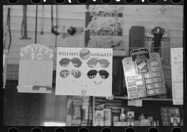 Display of merchandise in store, La Forge, Missouri