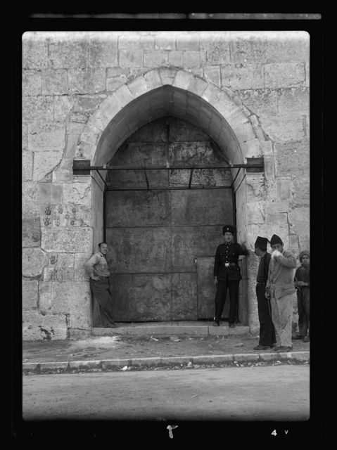 Disturbance 1938. Herods' Gate closed for traffic