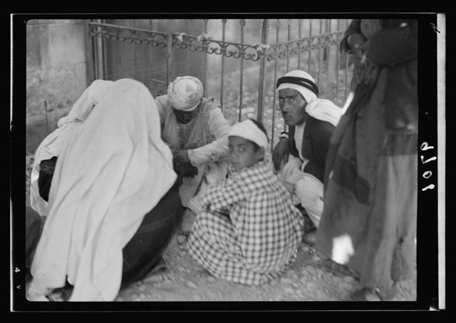 Disturbance. Attack on an Arab buss [i.e., bus] July 4, 1938. Casualties by bomb explosion