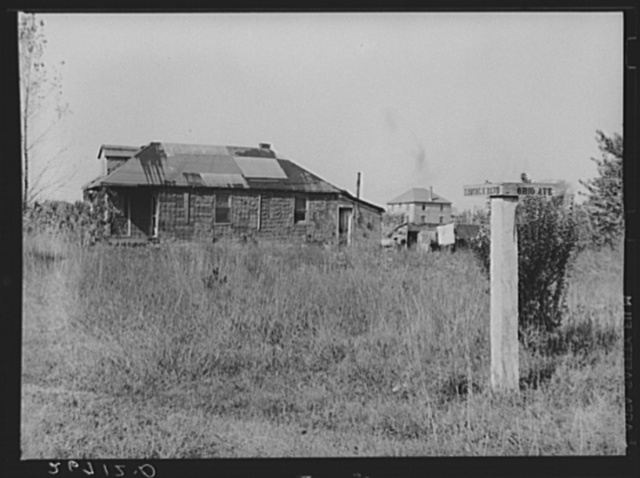 """Eighty Acres,"" real estate development that failed, in which agricultural laborers for nearby corporation farms live. Glassboro, New Jersey"