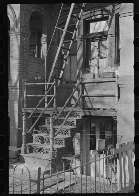 Entrance to apartment, Eighteenth and L Streets, Washington, D.C.