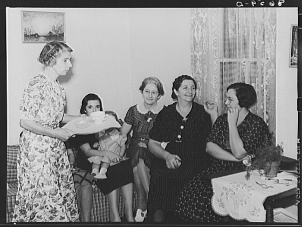 Farm ladies at meeting of the Helping Hand society. Gage County, Nebraska