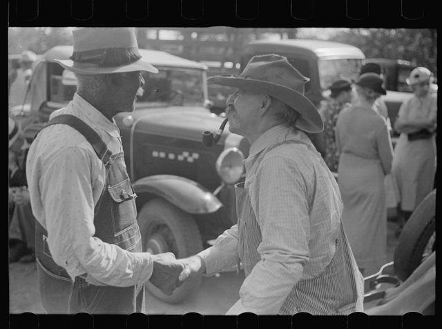 Farmers at the auction. Oskaloosa, Kansas