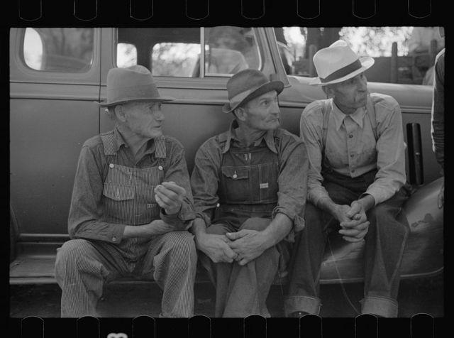 Farmers at the auction sale, Oskaloosa, Kansas