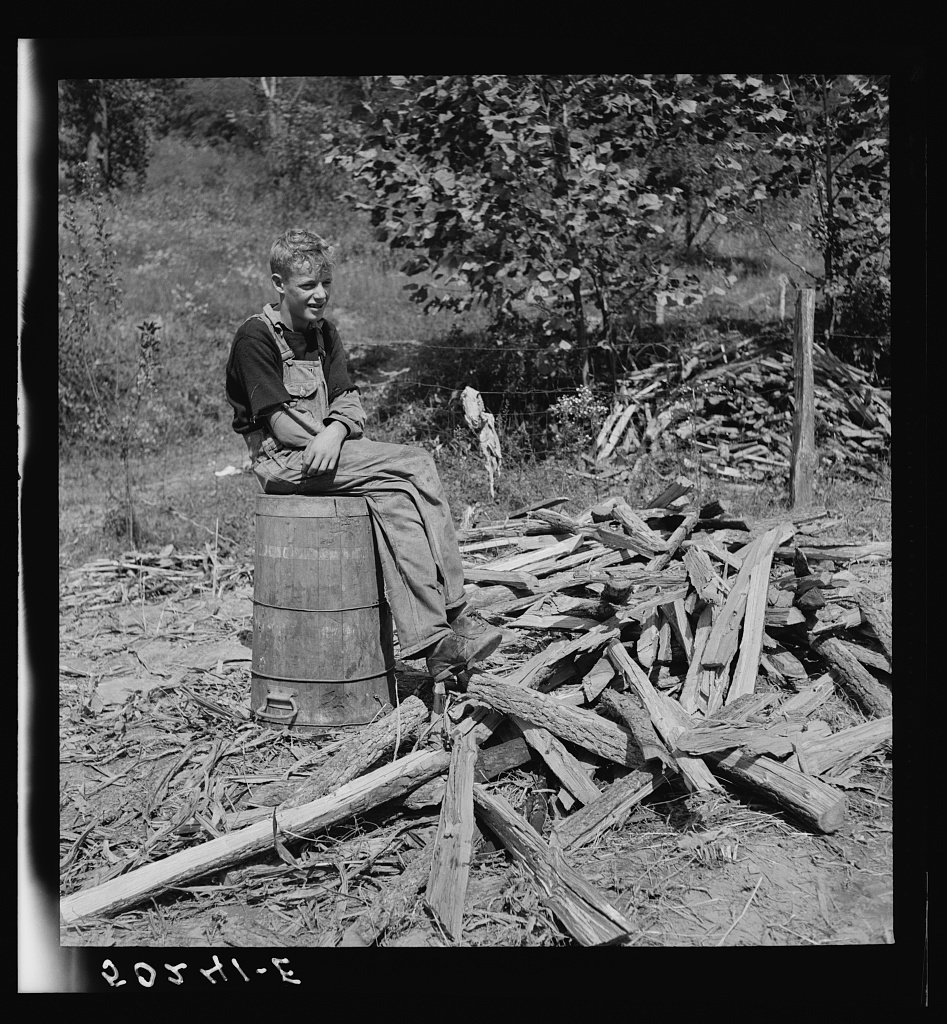 Farmer's son who helps make the molasses from sugarcane. Racine, West Virginia