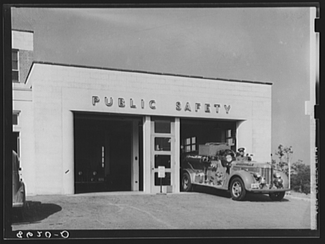 Fire station at Greenhills, Ohio