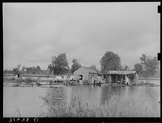Fisherman's house near Lake Maurepas, near Akers, Louisiana