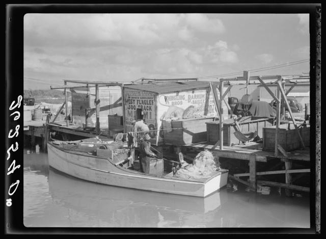 Fishing wharf. Lower Matecumbe Key, Florida