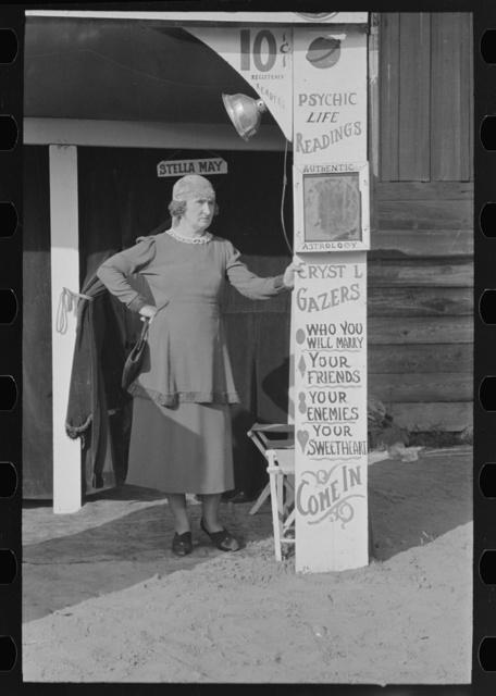 Fortune teller, state fair, Donaldsonville, Louisiana