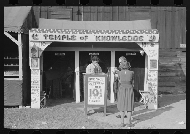 Fortune teller's cubicle, state fair, Donaldsonville, Louisiana