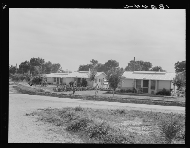 Gendale project (Farm Security Administration), Arizona. One of the twenty-four homes on the part-time farms project
