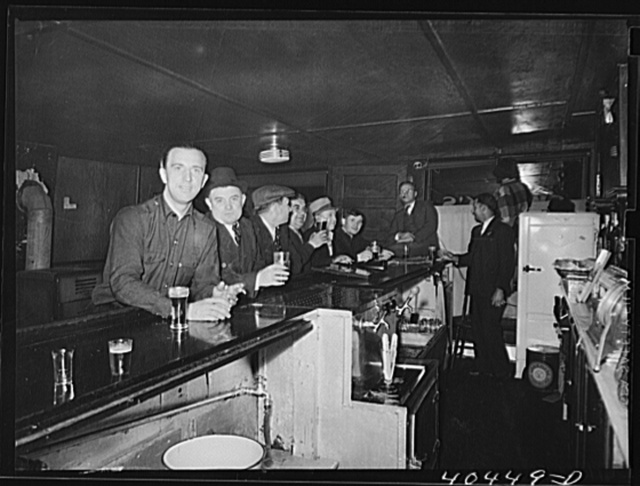 Gilberton, Pennsylvania. Men at a bar