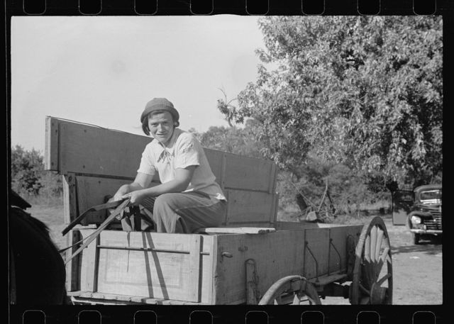 Girl who operates large farm with help of her sister and a rehabilitation loan. Coffey County, Kansas