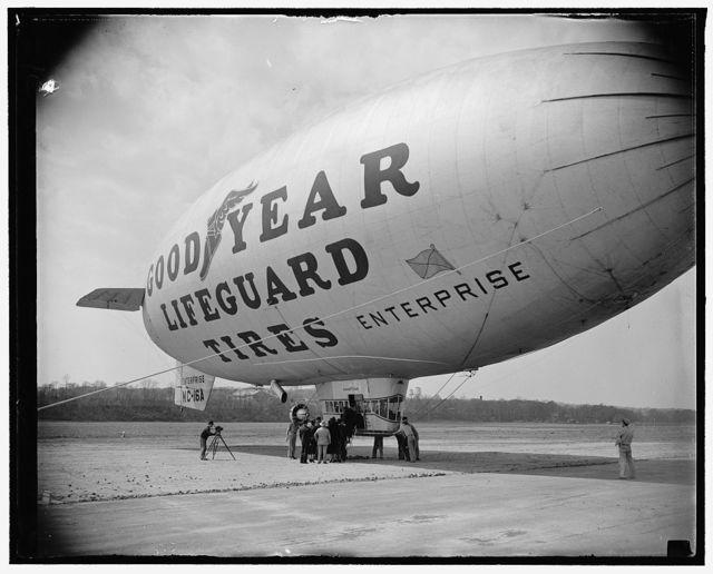 Goodyear blimp at Wash. Air Post, 4/13/38