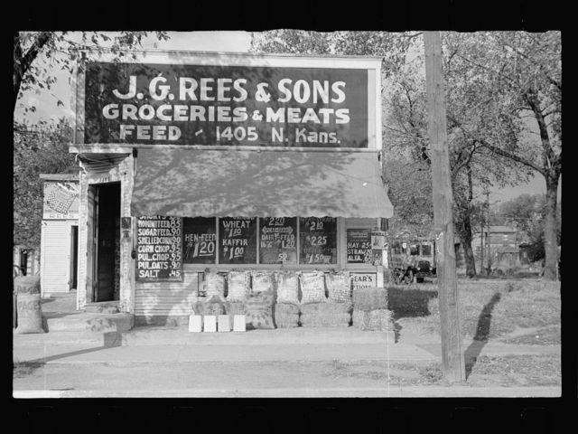 Grocery store specializing in feed and seed. Topeka, Kansas
