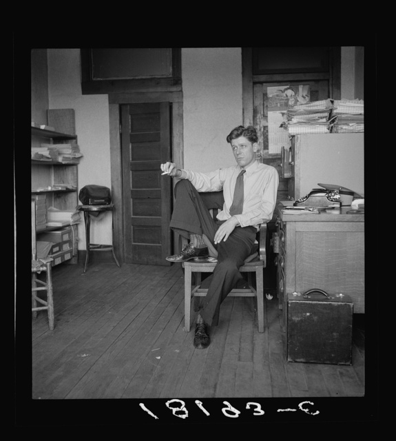 H.L. Mitchell, Secretary of Southern Tenant Farmers Union. Union headquarters, Memphis, Tennessee