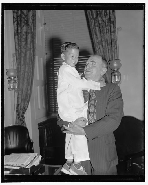 [House Speaker William Bankhead and child]