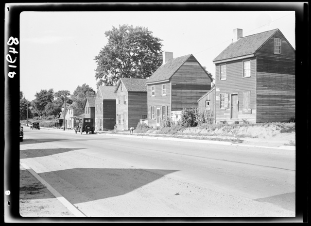 Houses in Negro section. Dover, Delaware