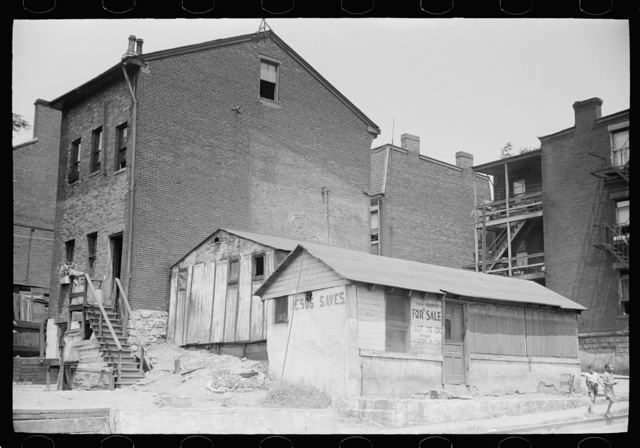 """Houses on """"The Hill"""" slum section of Pittsburgh, Pennsylvania"""