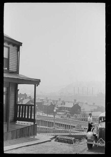 "Houses on ""The Hill"" slum section, Pittsburgh, Pennsylvania"