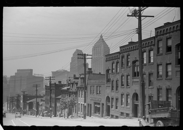 "Houses on ""The Hill"" slum section, Pittsburgh, Pennsylvania"