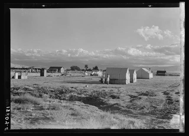 Housing of families living on Works Progress Administration (WPA) jobs on the plains, in the brush, and in many cheap auto trailer camps of Kern County, California, reflect the shortage of housing for low income workers