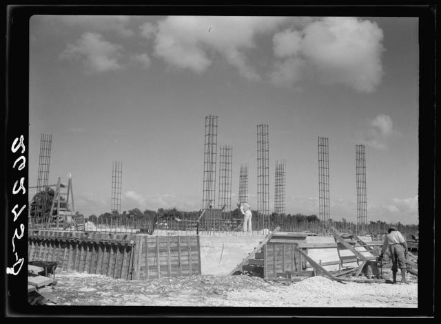 Hurricane shelter under construction. Matecumbe Key, Florida