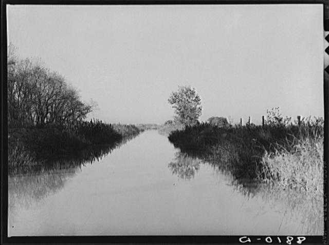 Irrigation ditch typical of western Nebraska