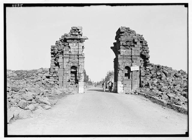 Jebel el-Druze & Hauran. Basra Eski Sham. The west city gate, Bab el-Hawa