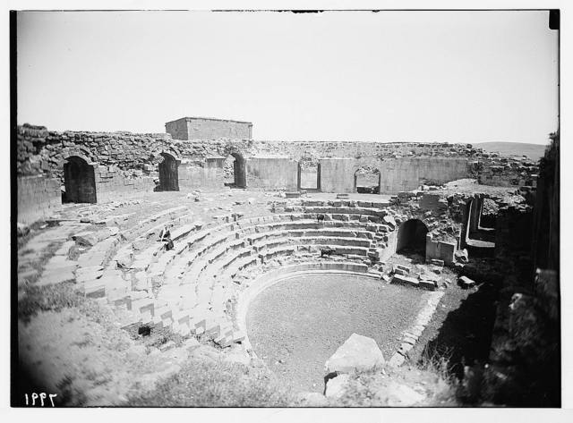 Jebel el-Druze & Hauran. Shahbah (ancient Philippopolis founded by Philip the Arab, 232 A.D.) The Roman theatre