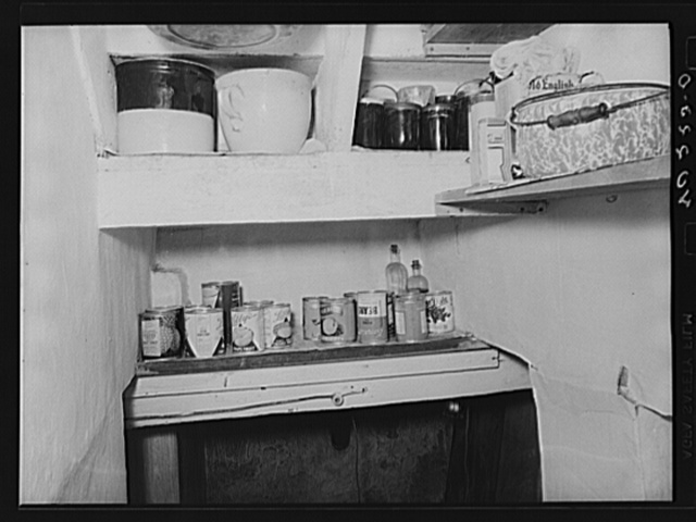 Lancaster County, Pennsylvania. Canned goods for an emergency on the Enos Royer farm