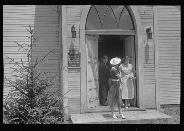 Leaving church, Linworth, Ohio