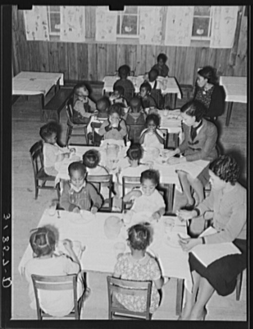 Luncheon in nursery school. Lakeview Project, Arkansas