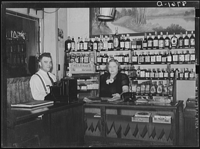 Manager of the Alamo bar, and Mildred Irwin, entertainer. North Platte, Nebraska