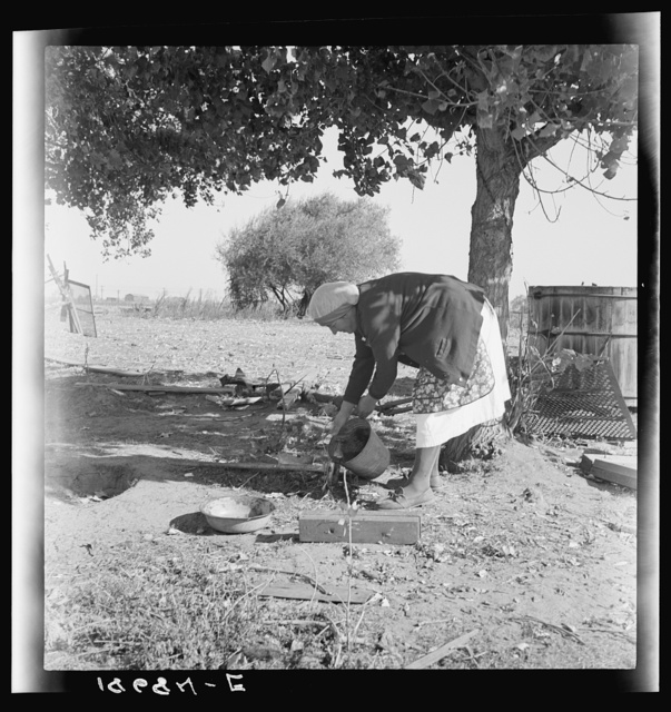 Manteca, California. Farm Security Administration Tenant Purchase client's wife