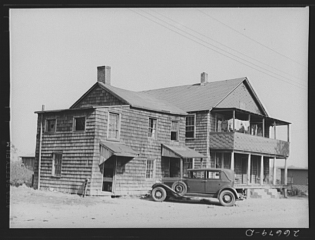 Many migrant potato pickers board at houses in town. Freehold, New Jersey