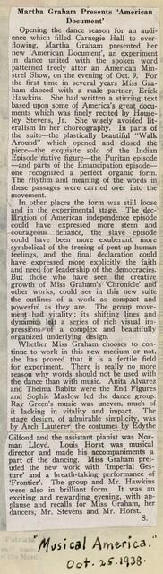 Martha Graham Presents 'American Document'