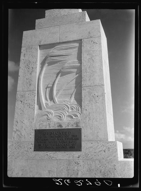 Memorial to hurricane victims. Matecumbe Key, Florida