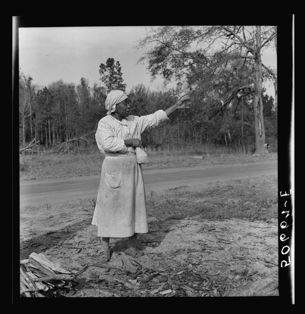 Negro woman, almost blind, near Beaufort, South Carolina