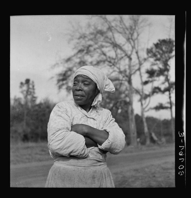 Negro woman, almost blind, near Beaufort, South Carolina