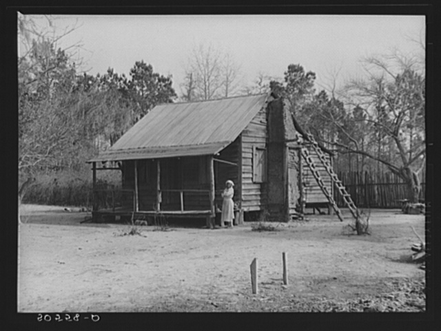 Negro woman's home near Beaufort, South Carolina. Her husband is paralyzed. Her two children were stillborn and she is almost blind