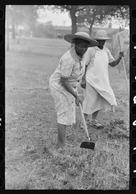 Negro women hoeing, Picayune, Mississippi