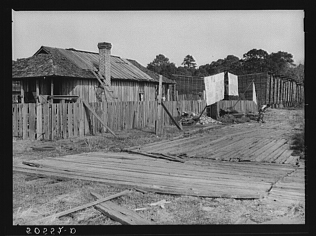 Negro's home in sawmill camp. Ashepoo, South Carolina