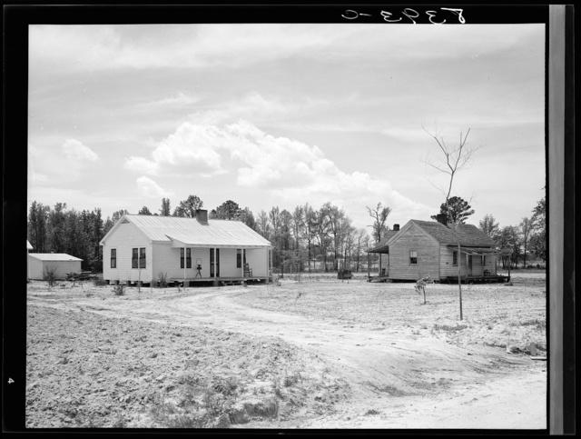 New and old farmhouse. Roanoke Farms, North Carolina
