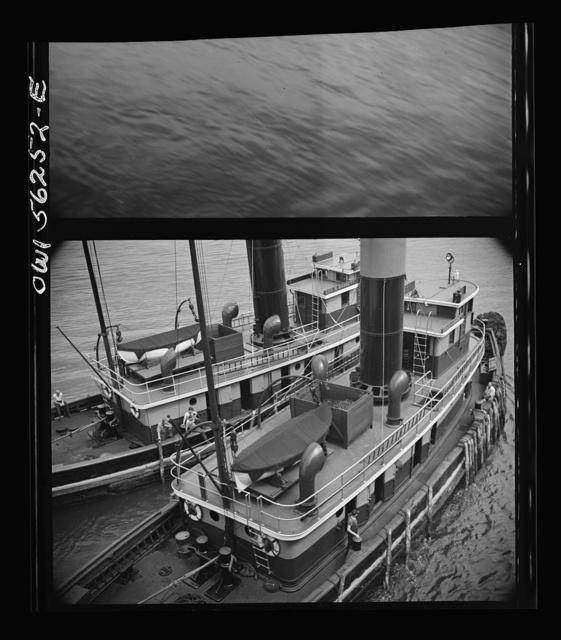 New York, New York. Two harbor tugs