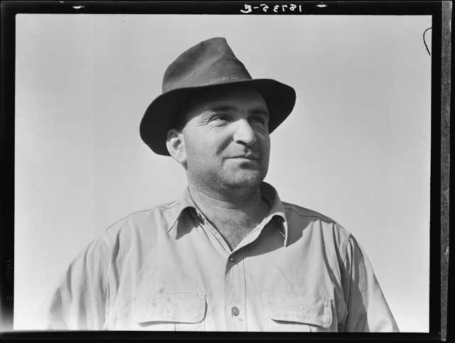 "November 17, 1938. Near Stockton, California. One of six successful applicants out of seventy-five. Purchasing farm under Bankhead-Jones Act. ""When a feller is in it for himself, if he makes it, it's his. If he don't make it, it's his fault alone"""