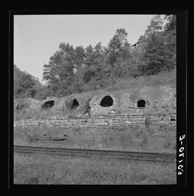 Old abandoned coke ovens. Maitland, West Virginia