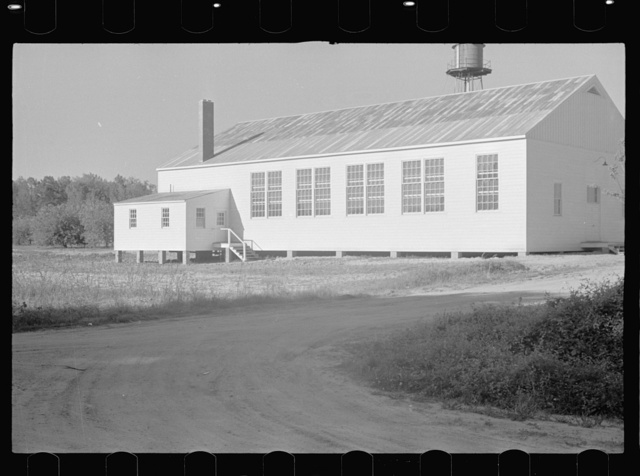 One of the community centers on Roanoke Farms, a U.S. Resettlement Administration project, near Enfield, North Carolina