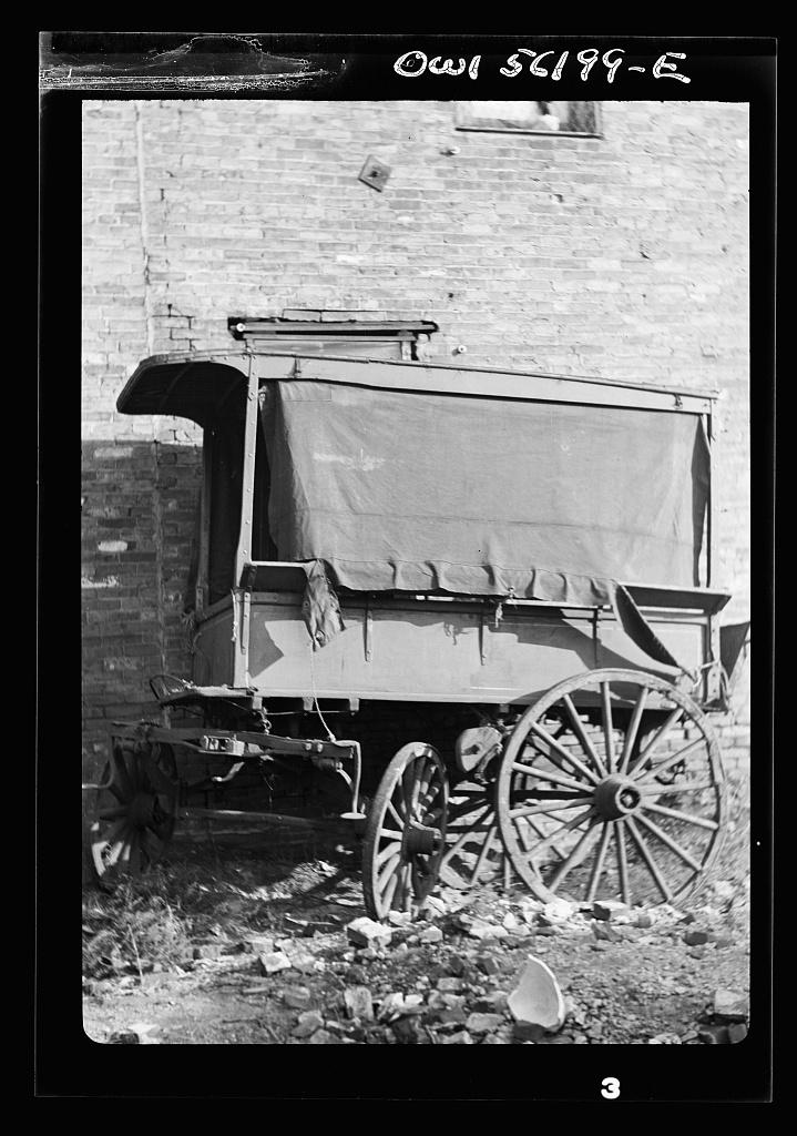 Philadelphia, Pennsylvania. Abandoned delivery wagon