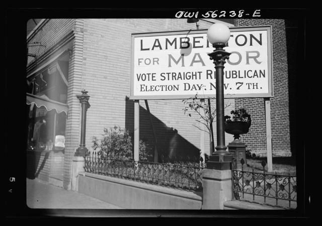 Philadelphia, Pennsylvania. Election sign on South Broad Street